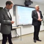 Moderator Ralf Hasford und Initiator Andreas Matern begrüßen die Gäste