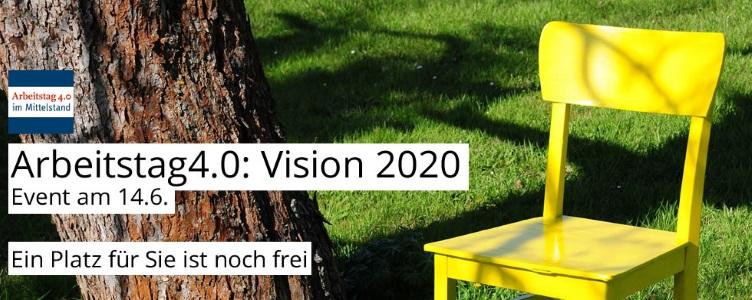 "Arbeitstag 4.0 Talk Hamburg, 14. Juni 2016 ""Vision 2020"" #at40hh"